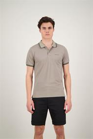 AIRFORCE HRM0655 Double Stripe Polo Silver Sage