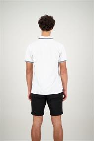 AIRFORCE HRM0655 Double Stripe Polo White