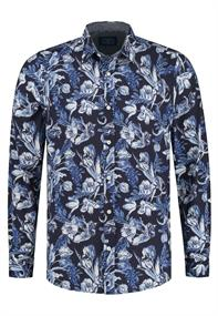 AMSTERDENIM Carolus Shirt L/S Blue on Blue