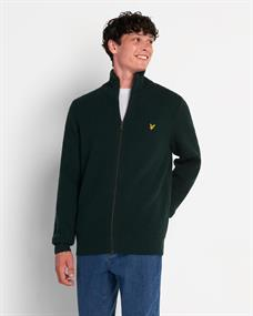 LYLE & SCOTT Knitted rib zip cardigan