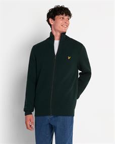 LYLE & SCOTT Knitted rib zip cardigan