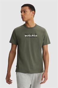 WOOLRICH Macro logo tee